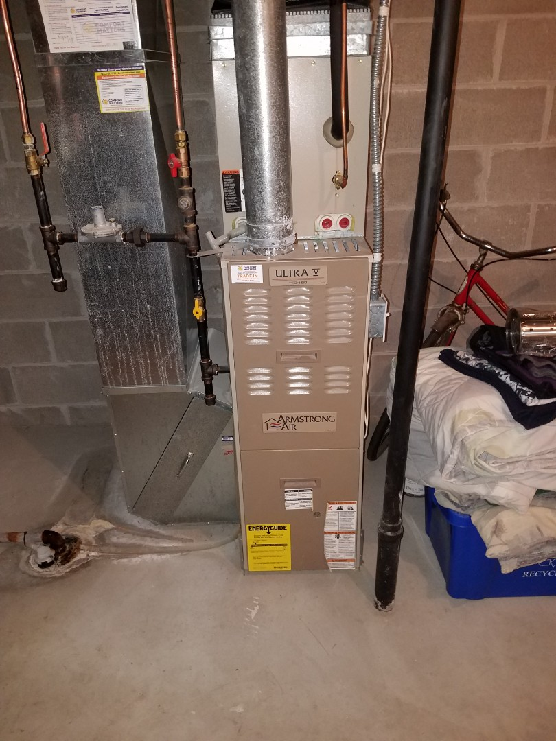 Saint Michael, MN - No heat call in st. Michael. Found failed flame safety on Armstrong furnace. Replaced flame safety and tested system operation