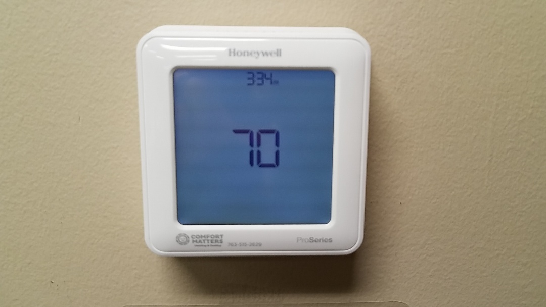 Maple Grove, MN - Thermostat install. Install honeywell wifi thermostat and Honeywell gateway module.