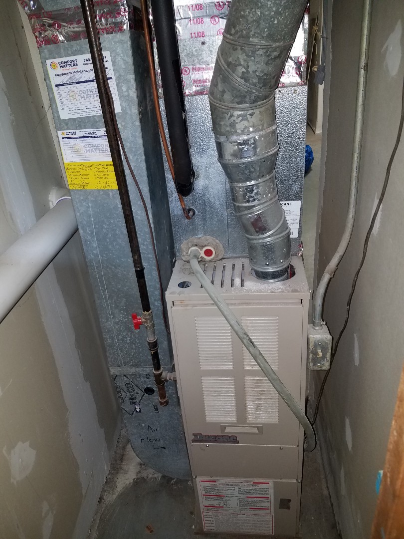 Maple Grove, MN - Heating service. Installed a control board on a Ducane furnace.