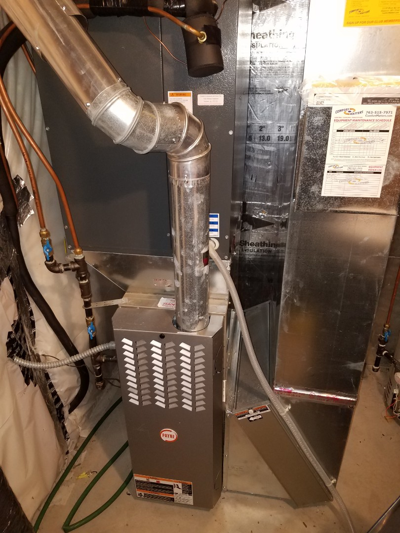 Corcoran, MN - Heating maintenance. Performed a cleaning and tune up on a Bryant furnace.