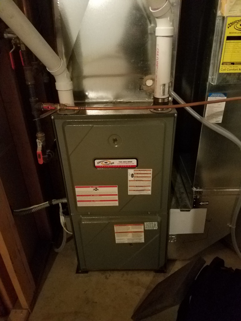 Osseo, MN - Furnace tune up and cleaning on amana furnace