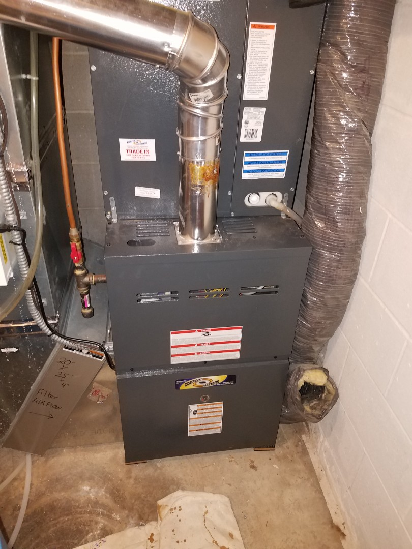 Maple Grove, MN - Furnace tune up and cleaning on Goodman furnace
