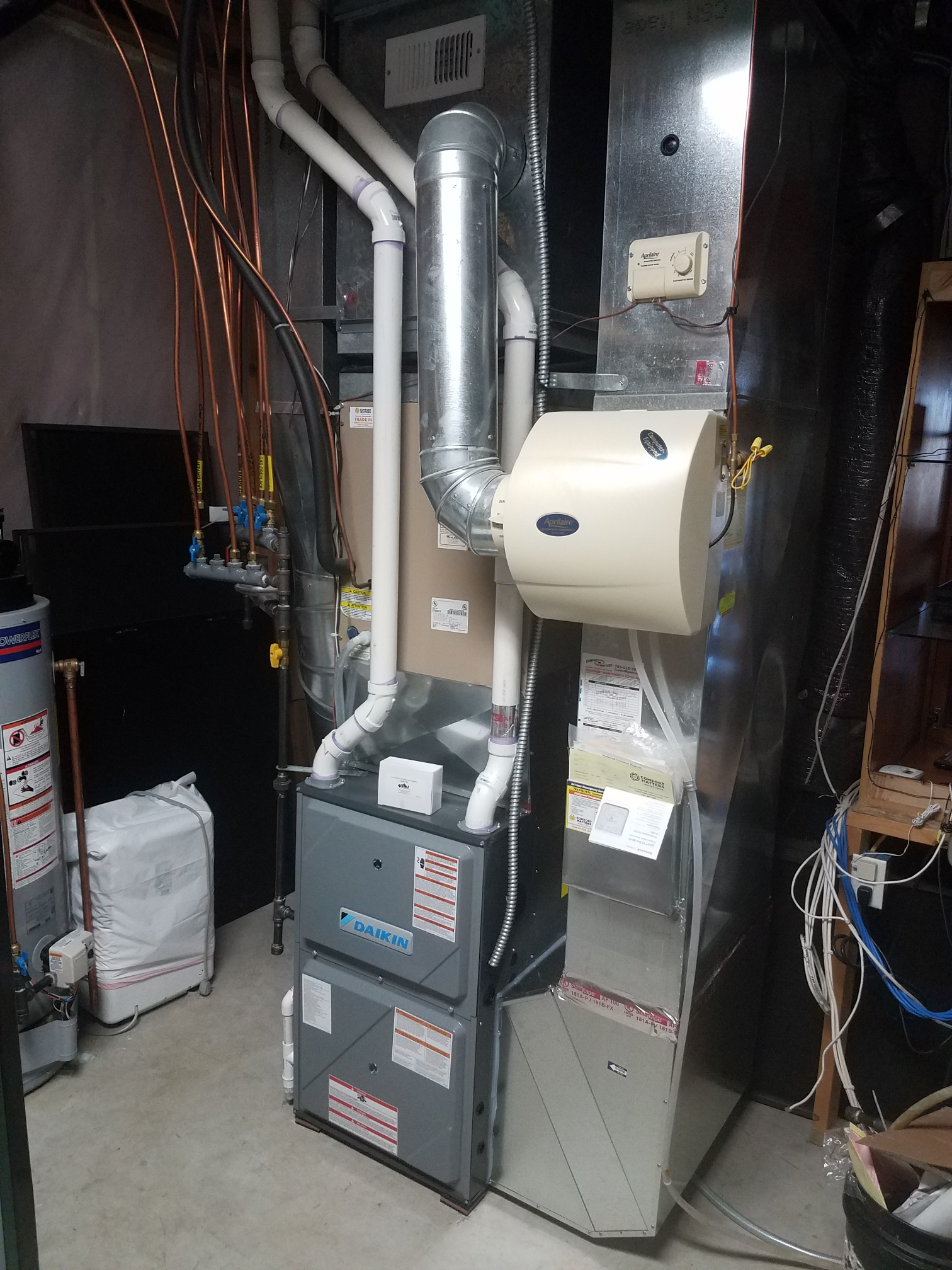 Maple Grove, MN - Installed Daikin furnace and air conditioner along with a Honeywell thermostat