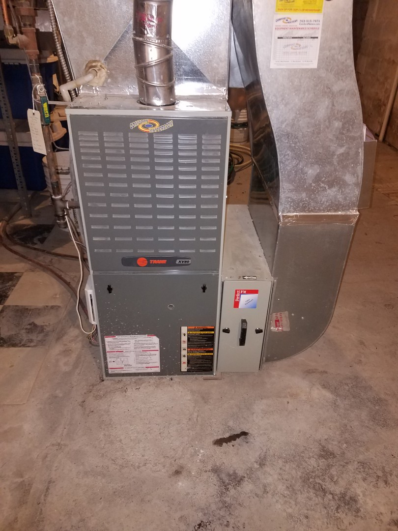Corcoran, MN - Furnace tune up and cleaning on trane furnace