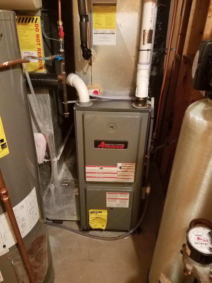 Hanover, MN - Heating maintenance. Performed furnace service on Amana furnace. Performed tune up on Aprilaire while home humidifier.