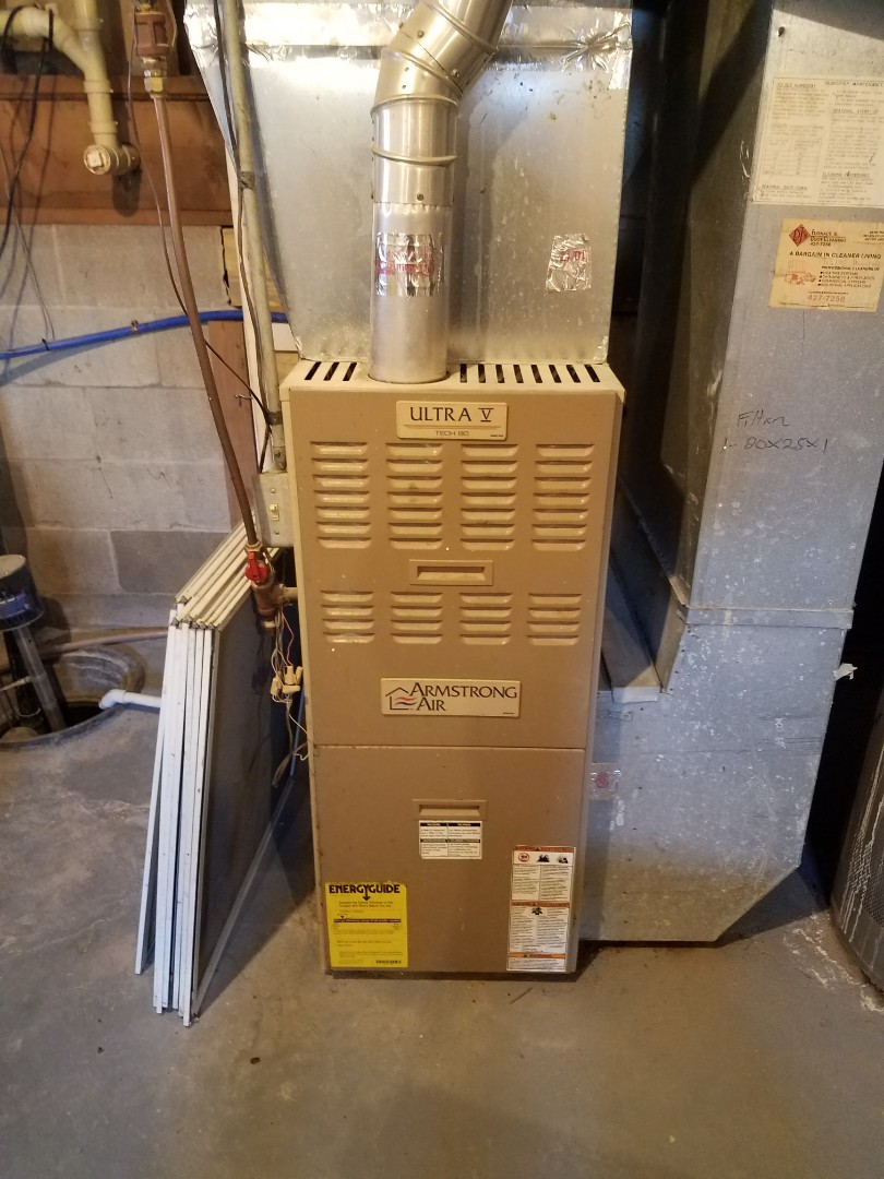 Otsego, MN - Main flame safety sensor replacement on armstrong air furnace