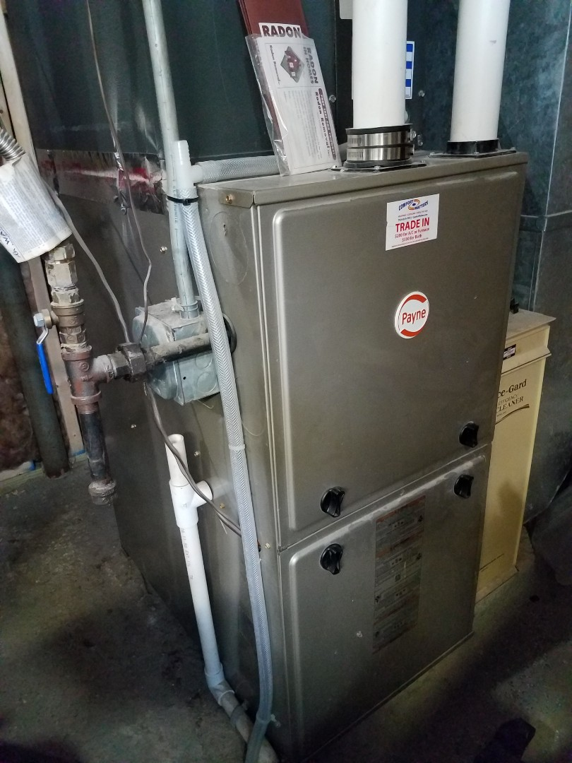 Buffalo, MN - Heating maintenance. Performed cleaning and tune up on Payne furnace. Repaired leaking furnace venting.