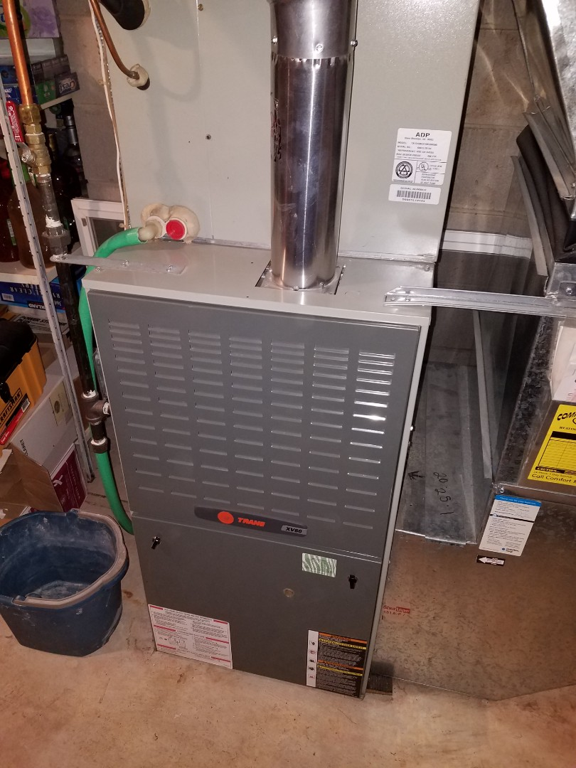 Plymouth, MN - Heating maintenance. Performed a cleaning and tune up on a Trane furnace.