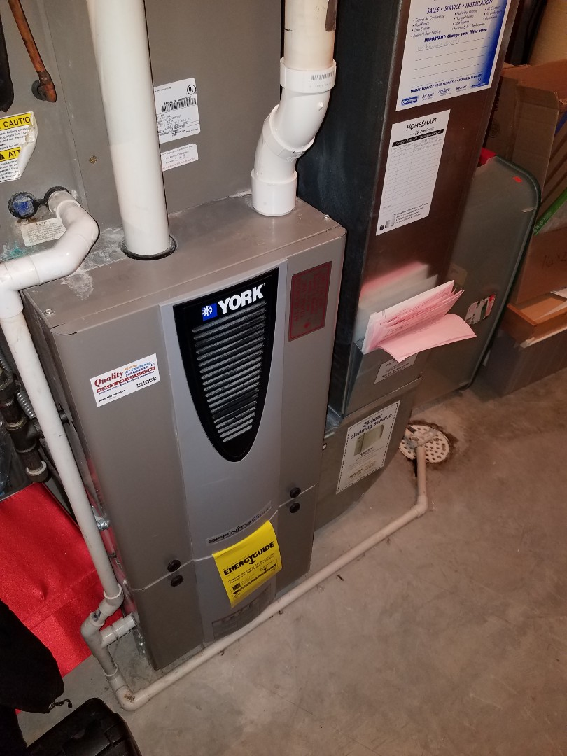 Rockford, MN - Furnace tune up and clean on York furnace in Rockford