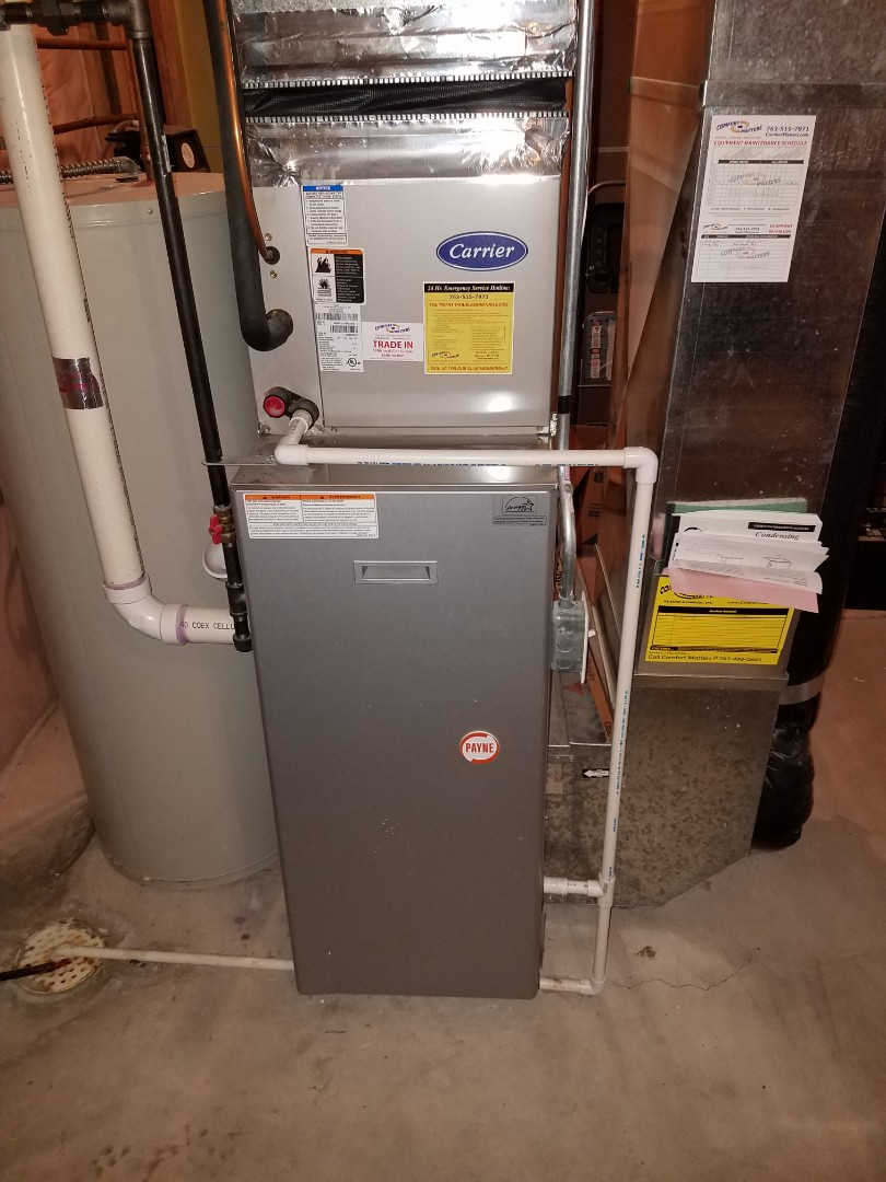 Rockford, MN - Furnace tune up and clean in Payne unit in Hanover