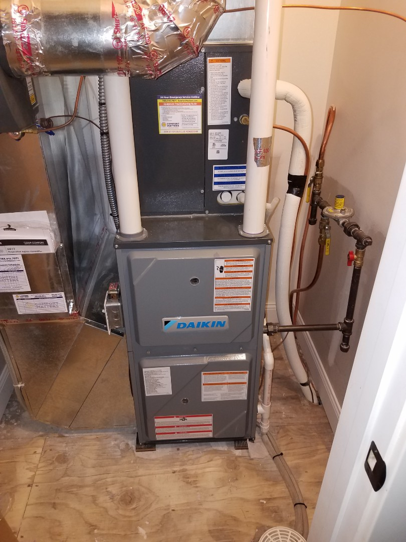 Buffalo, MN - Furnace tune up and clean on 2 daikin units, 1 Burnham boiler, 2 humidifier tune ups and filter replacement. 1 air exchanger tune up in buffalo