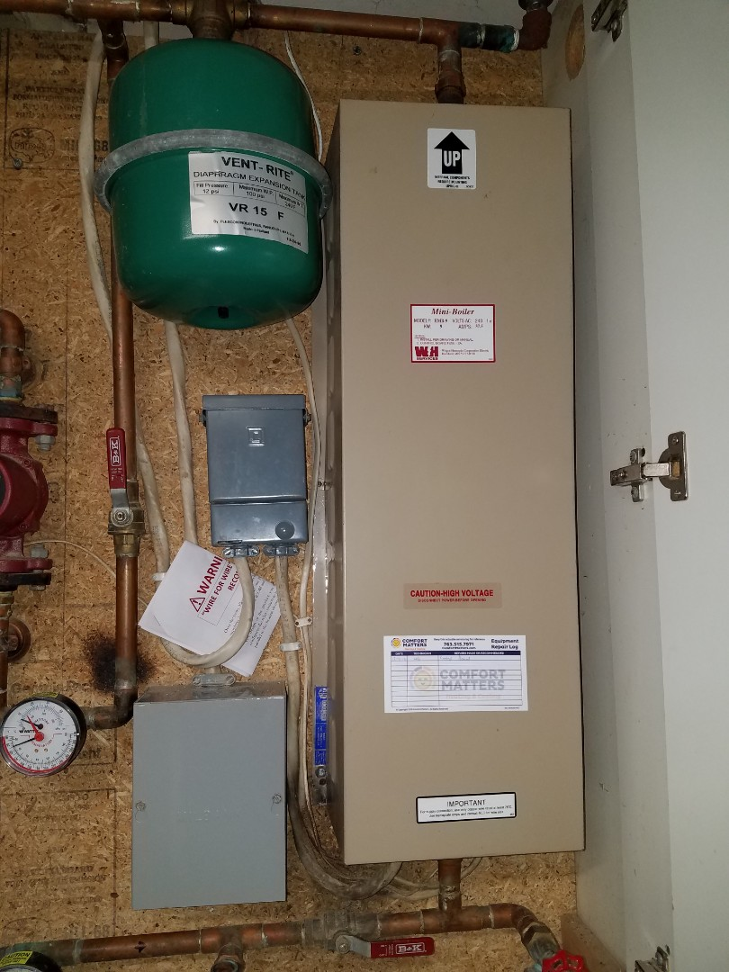 Plymouth, MN - Electric boiler service. Installed a control board on an Electro Industries electric boiler.