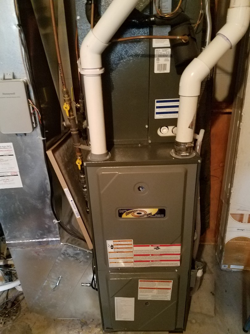 Big Lake, MN - Furnace maintenance. Performed tune up abs cleaning on a Comfort Matters furnace.