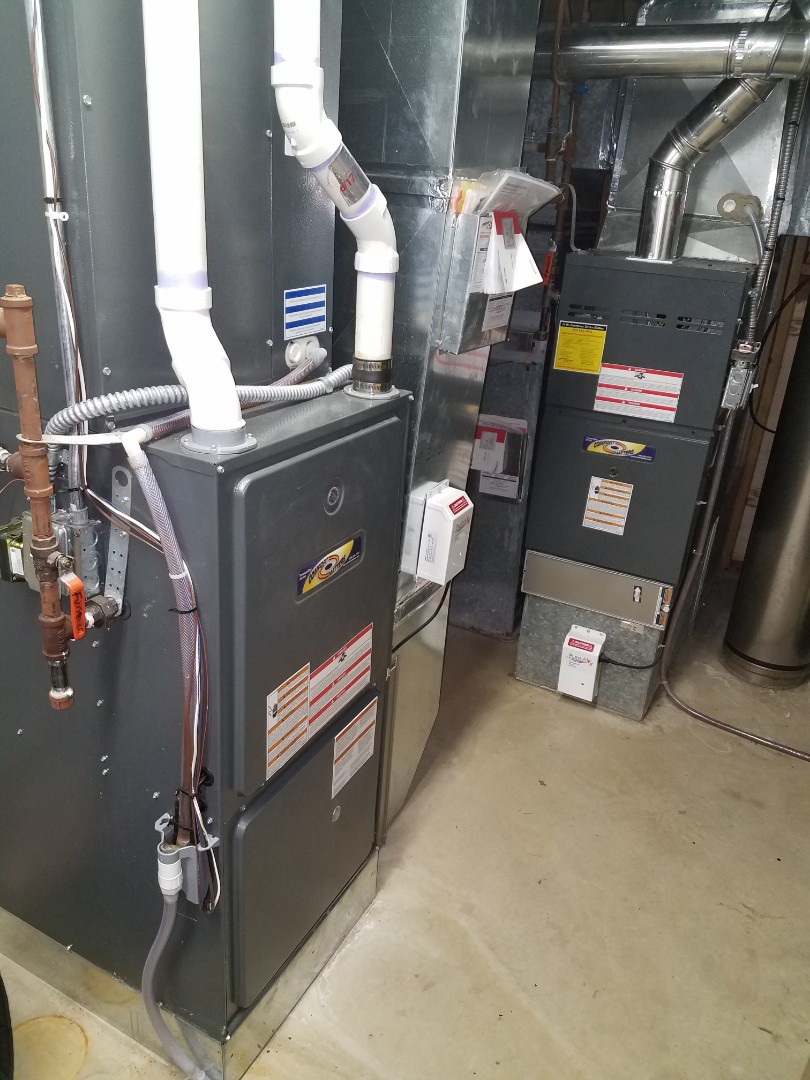 Ramsey, MN - Furnace maintenance.  Performed a cleaning and tune up on two Comfort Matters furnace.