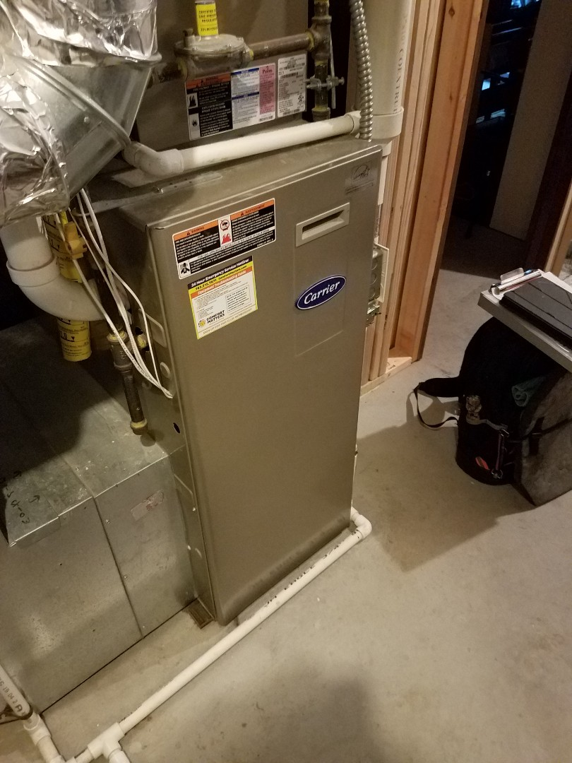 Otsego, MN - Replaced inducer motor assembly on Carrier furnace in Otsego