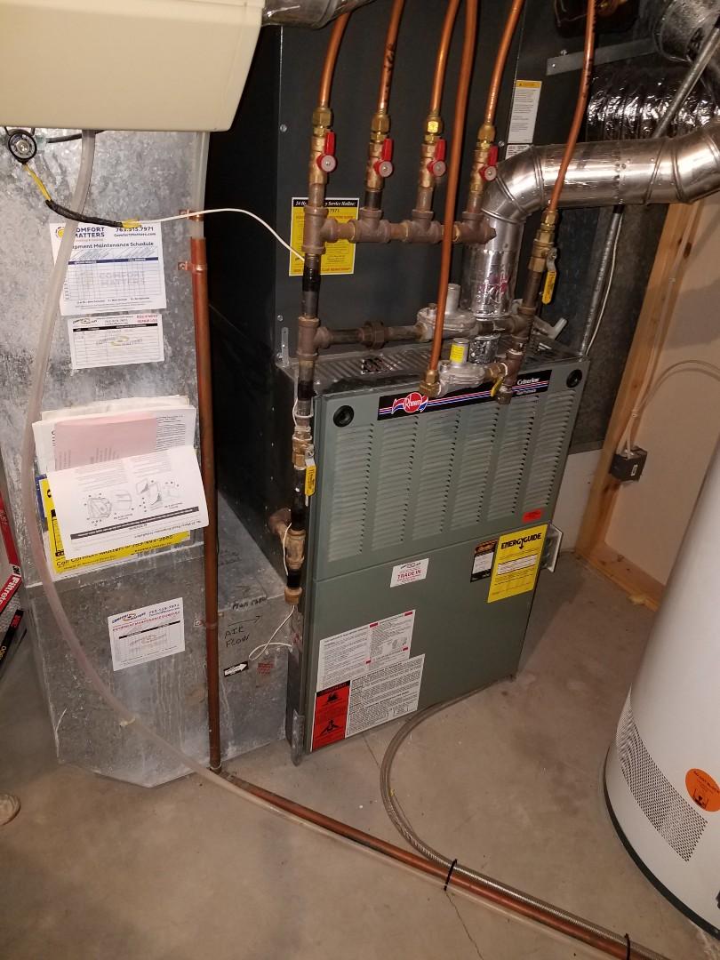 Plymouth, MN - Furnace service on rheem furnace