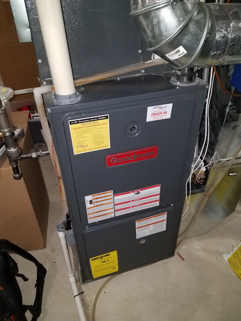 Osseo, MN - Furnace maintenance. Performed cleaning and tune up on a Goodman furnace and Honeywell humidifier. Installed diamond vent protection.