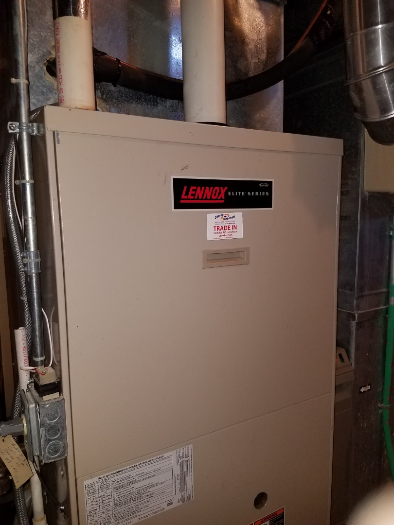 Hopkins, MN - Furnace tune up and clean on Lennox unit in minnetonka