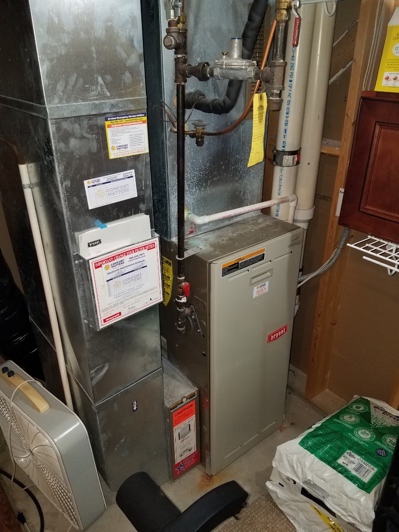Hanover, MN - Heating service. Installed and exhaust motor on a Bryant furnace.