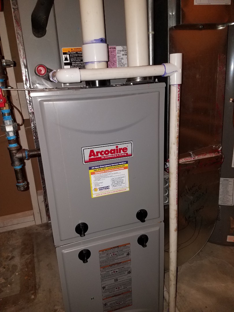 Albertville, MN - Furnace tune up and clean on arco aire unit in Maple Grove