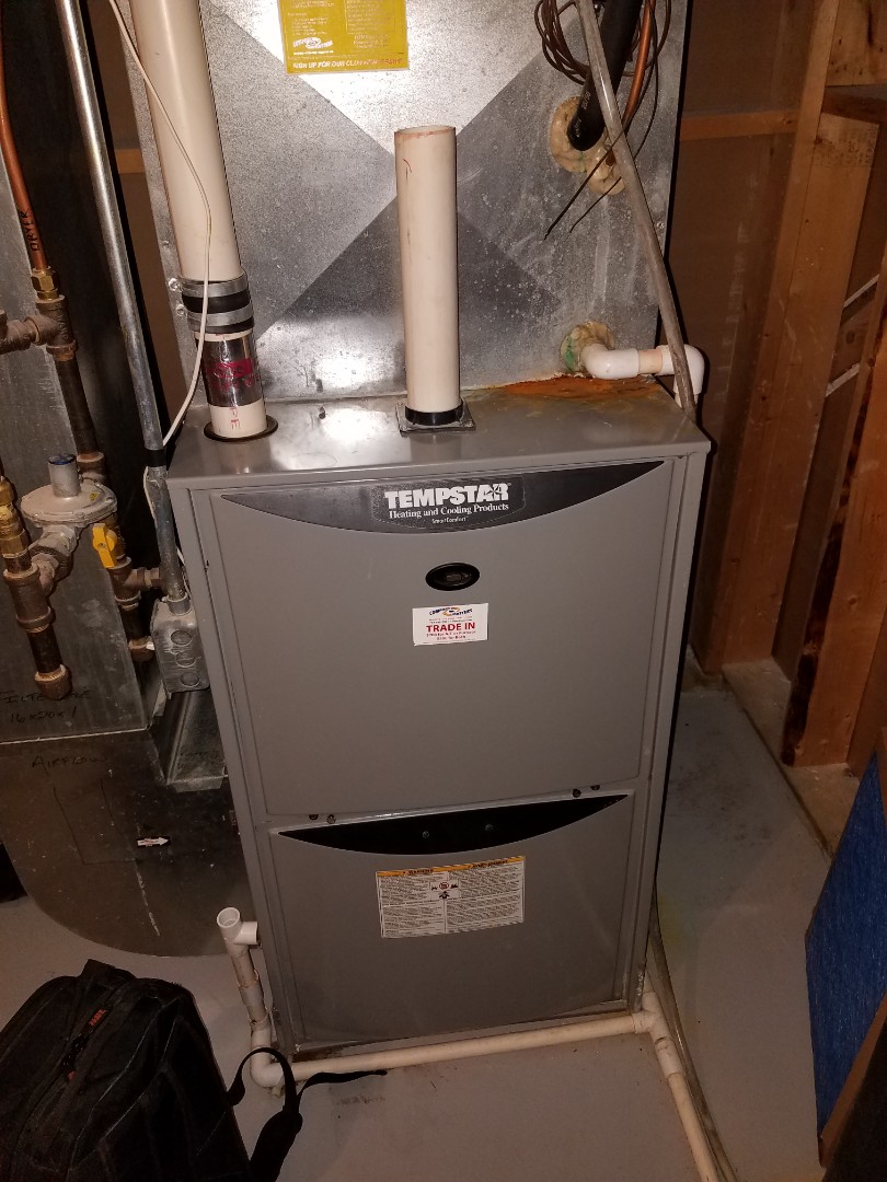 Buffalo, MN - Furnace tune up and cleaning on Tempstar furnace
