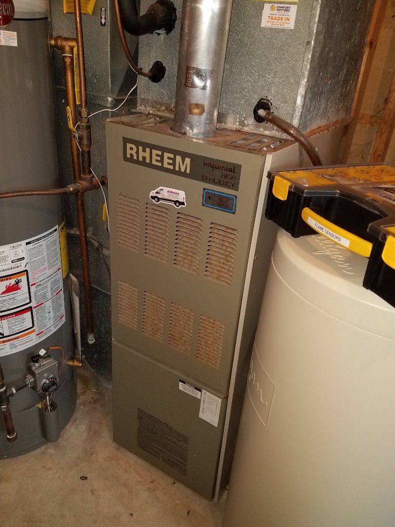 Loretto, MN - Furnace service on rheem furnace