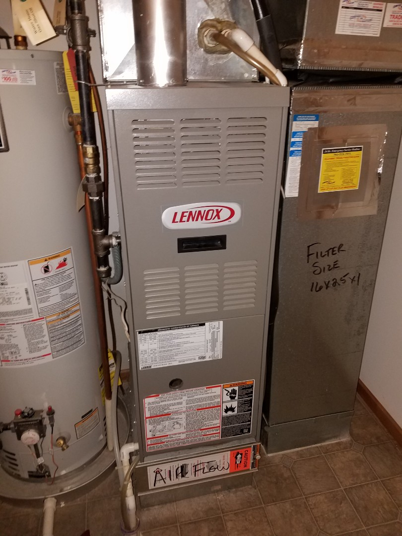 Elk River, MN - Furnace tune up and cleaning on Lennox furnace