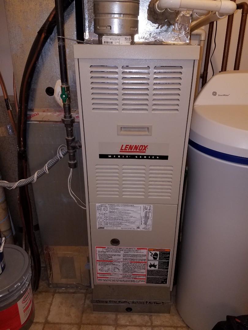 Elk River, MN - Furnace service on Lennox furnace