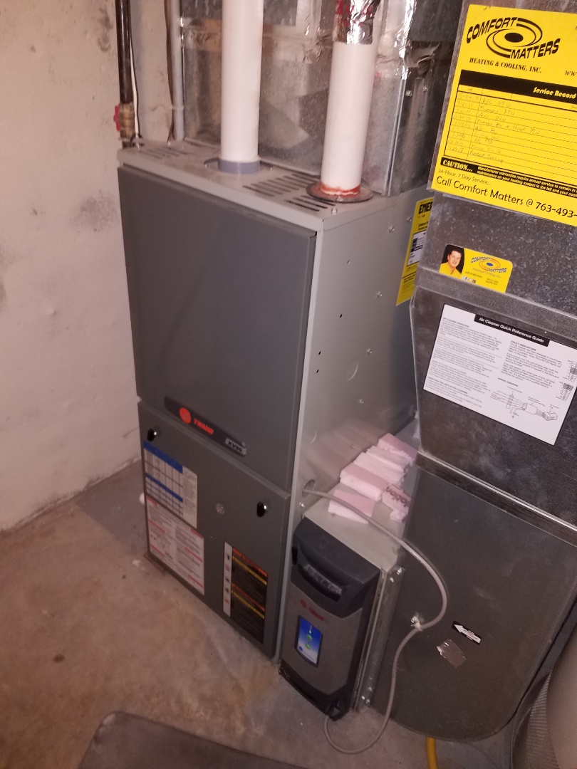 Rogers, MN - Furnace tune up and cleaning on trane furnace