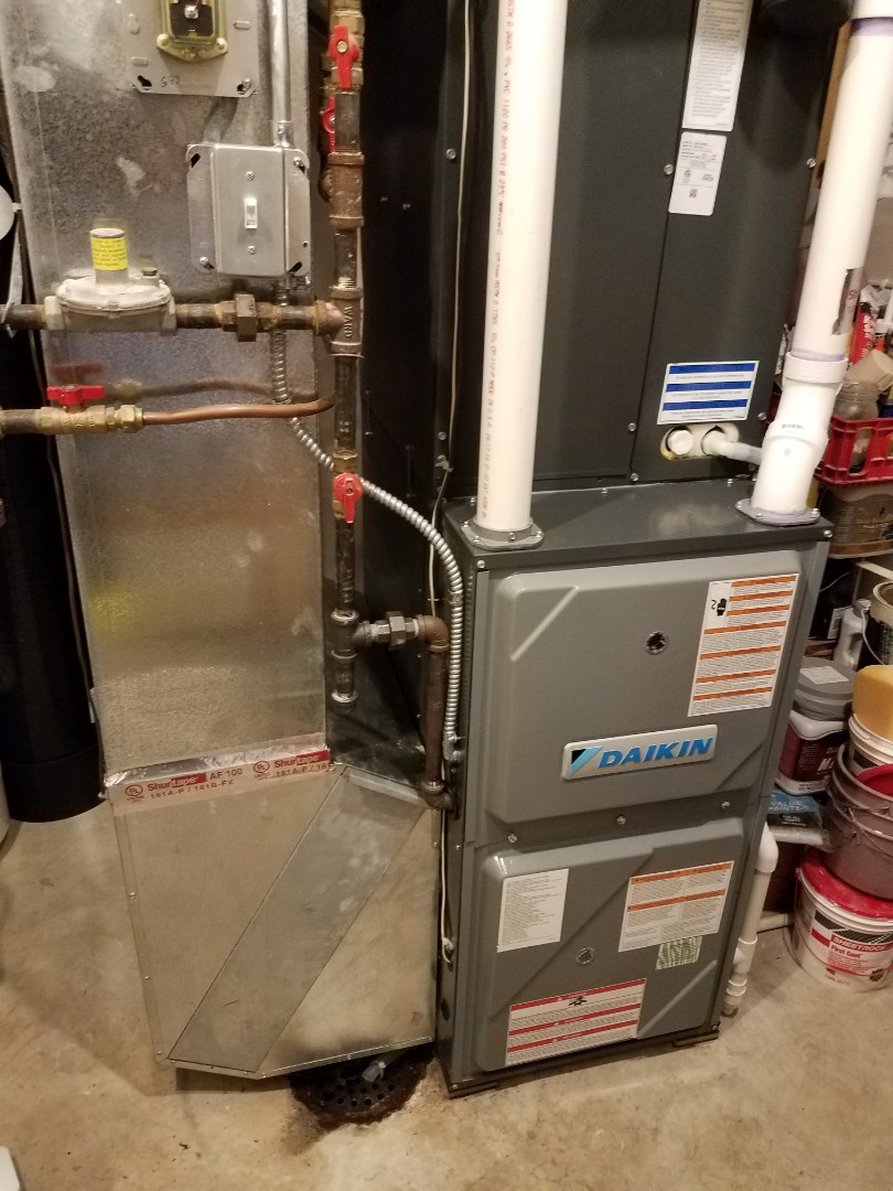 Rogers, MN - Furnace maintenance. Performed tune up and cleaning on a Daikin furnace.
