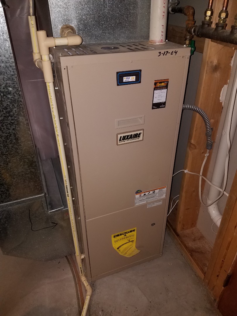 Mound, MN - Furnace tune up and cleaning on luxaire furnace