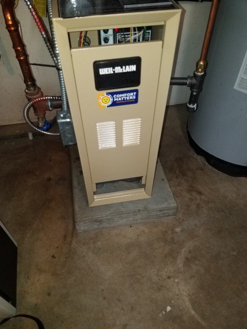 Brooklyn Park, MN - Boiler tune up and clean in Weil McClain boiler in Brooklyn Park