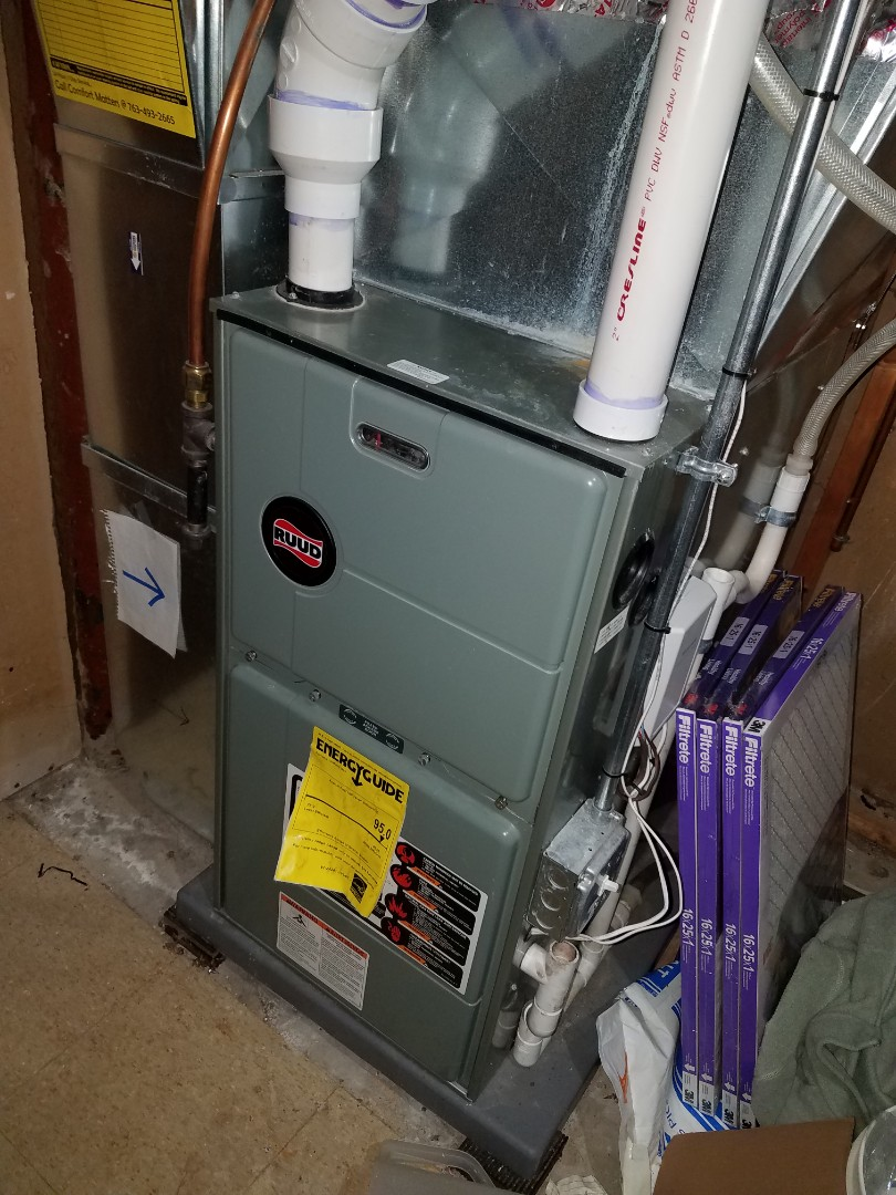 Osseo, MN - Furnace service on Ruud furnace
