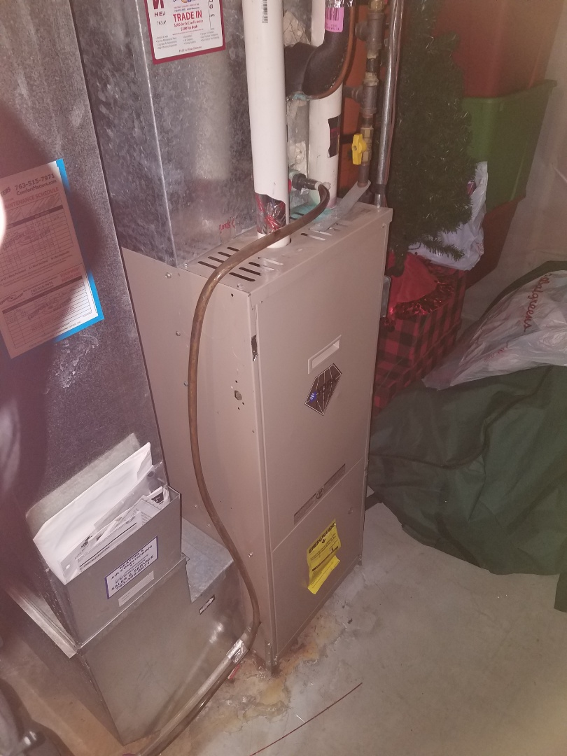 Rogers, MN - Furnace maintenance. Performed a clean and tune on a York furnace. Installed booster on blower motor.