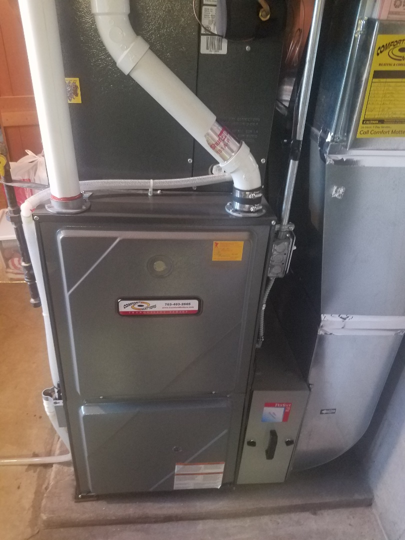 Eden Prairie, MN - Furnace maintenance. Performed tune up and cleaning on a Comfort Matters furnace.