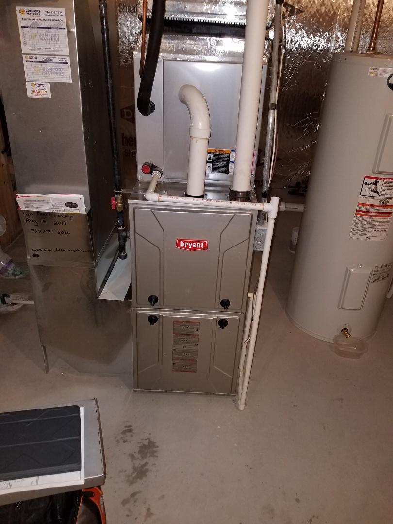 Osseo, MN - Furnace service on Bryant furnace