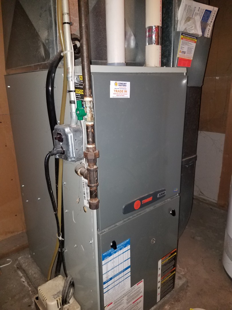 Brooklyn Park, MN - No heat on trane furnace in Brooklyn Center, found failed pressure switch