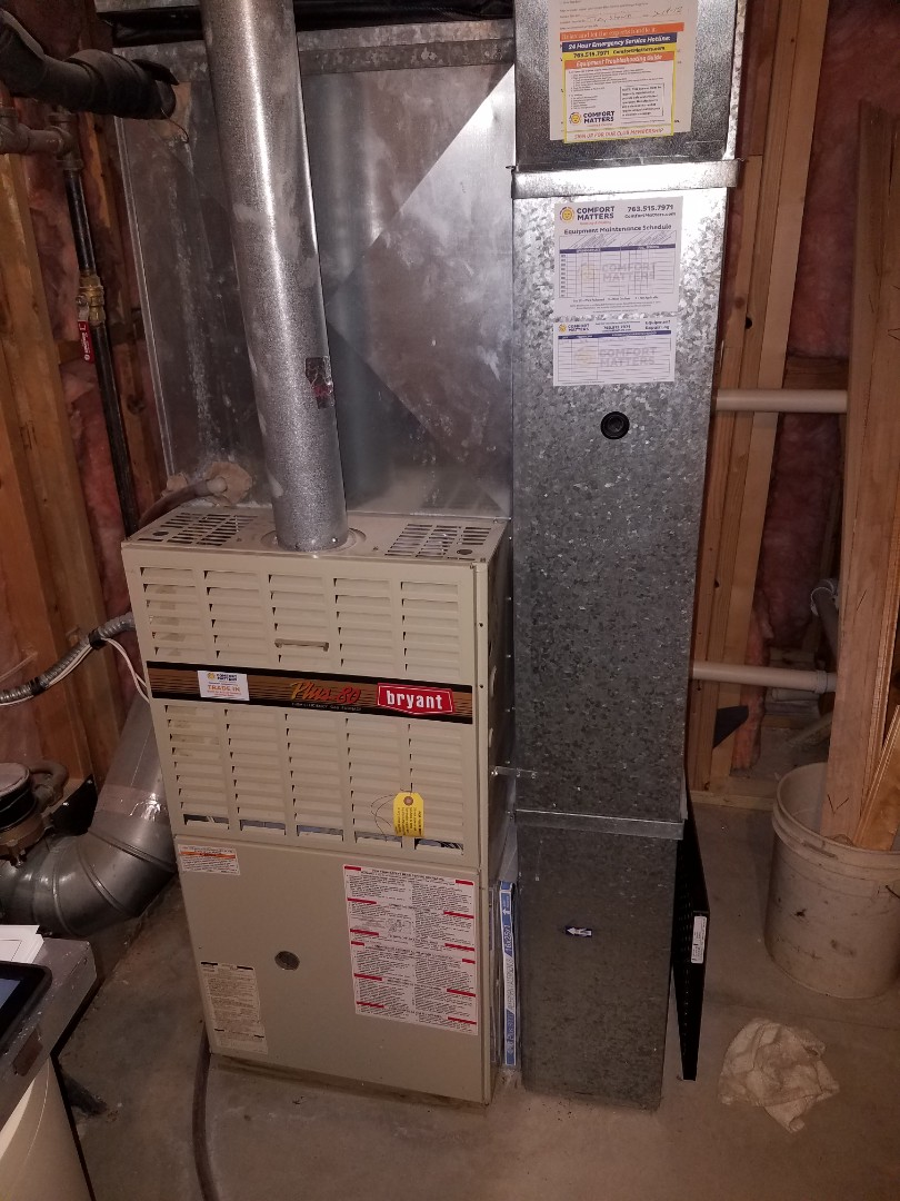 Osseo, MN - Furnace service. Installed a pressure safety switch on a Bryant furnace.