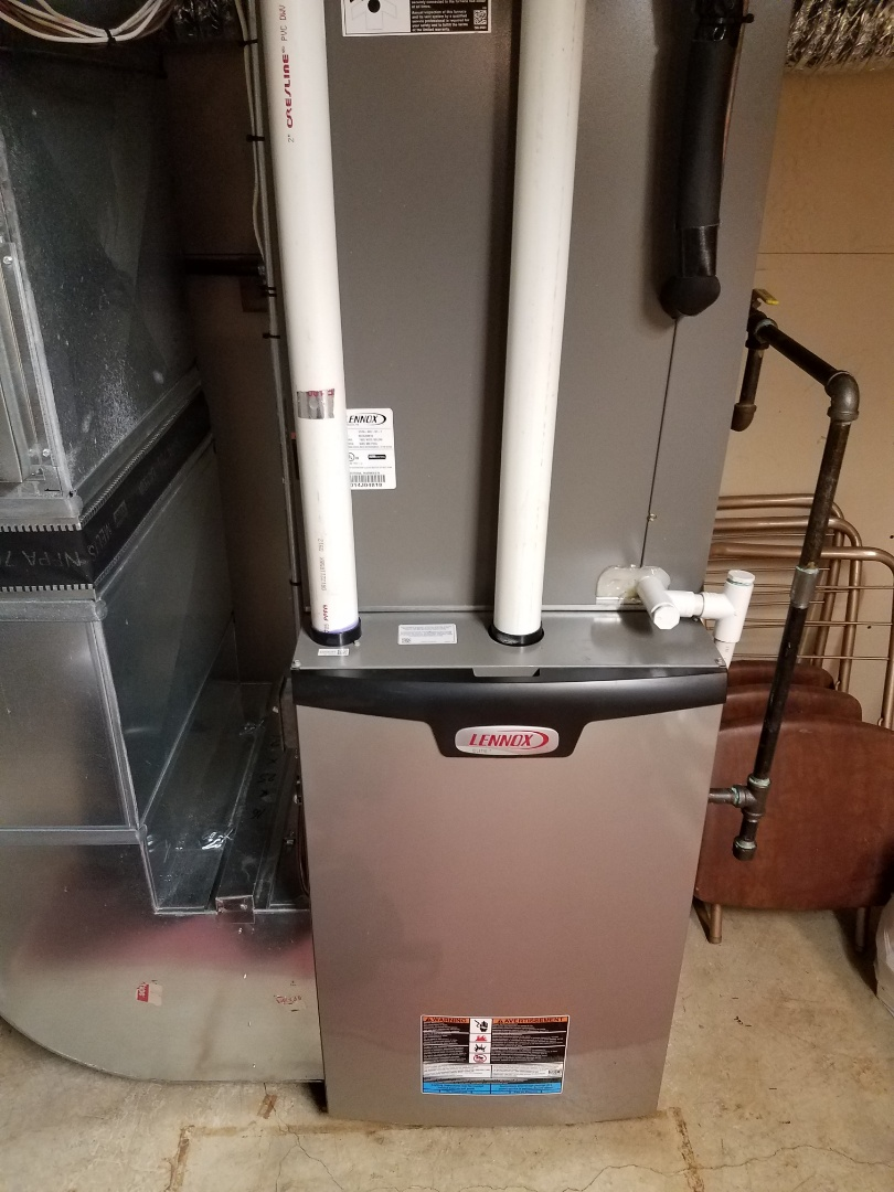 Buffalo, MN - Furnace maintenance. Performed tune up and cleaning on a Lennox furnace. Performed tune up and cleaning on a Bryant furnace.