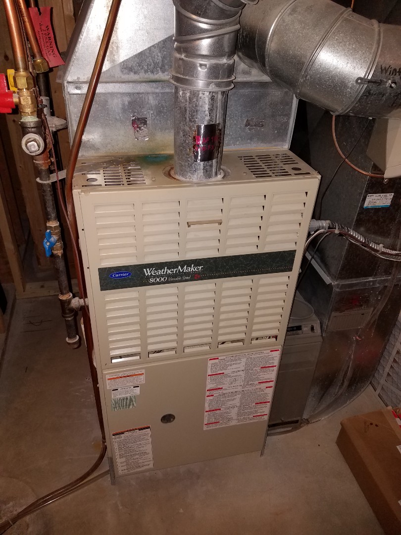 Maple Grove, MN - Furnace service. Performed a cleaning and tune up on carrier furnace.