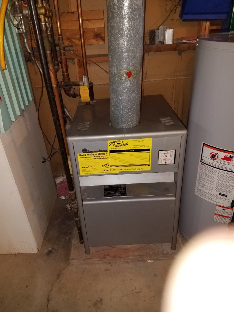 Osseo, MN - Boiler maintenance. Performed a tune up and cleaning on a American standard boiler.