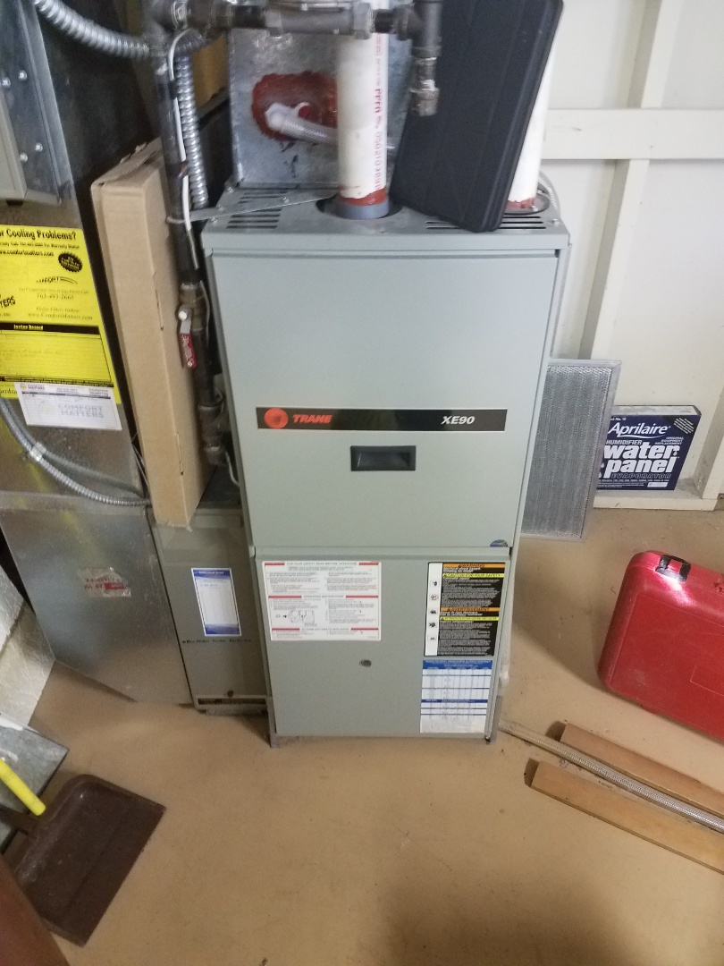 Saint Michael, MN - Furnace tune up and cleaning on trane furnace
