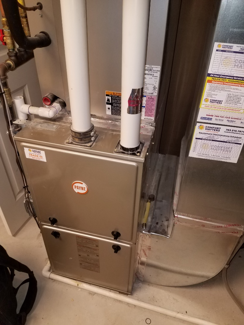 Maple Grove, MN - Furnace tune up and clean on Payne unit in St. Michael