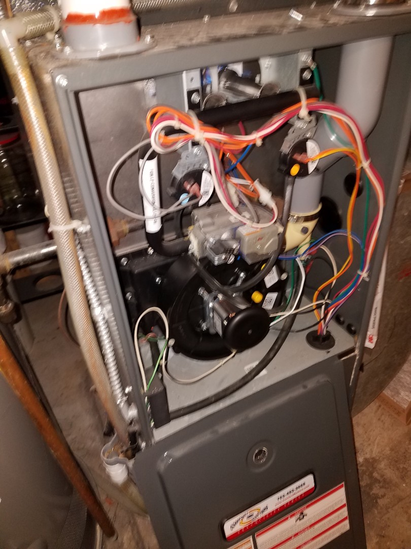 Maple Grove, MN - Replaced induced draft motor assembly on Goodman furnace