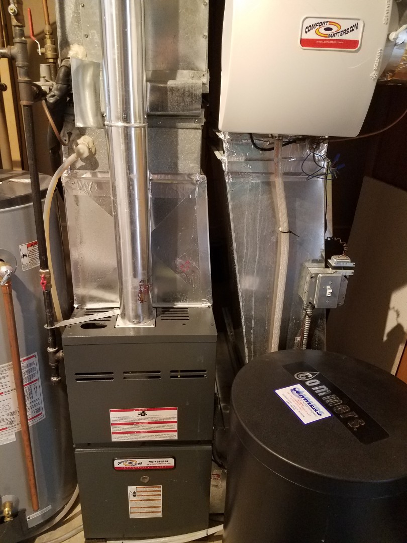 Maple Grove, MN - Furnace maintenance. Performed tune up and cleaning on a Comfort Matters furnace.