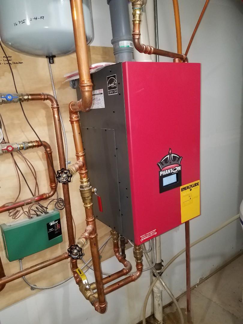 Plymouth, MN - Boiler service. Installed a Taco circulator pump on a Phantom Crown boiler.