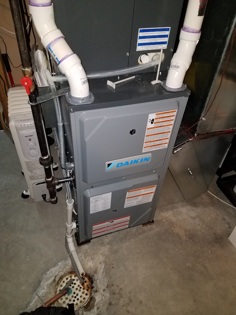Maple Grove, MN - Furnace tune up and cleaning on daikin furnace