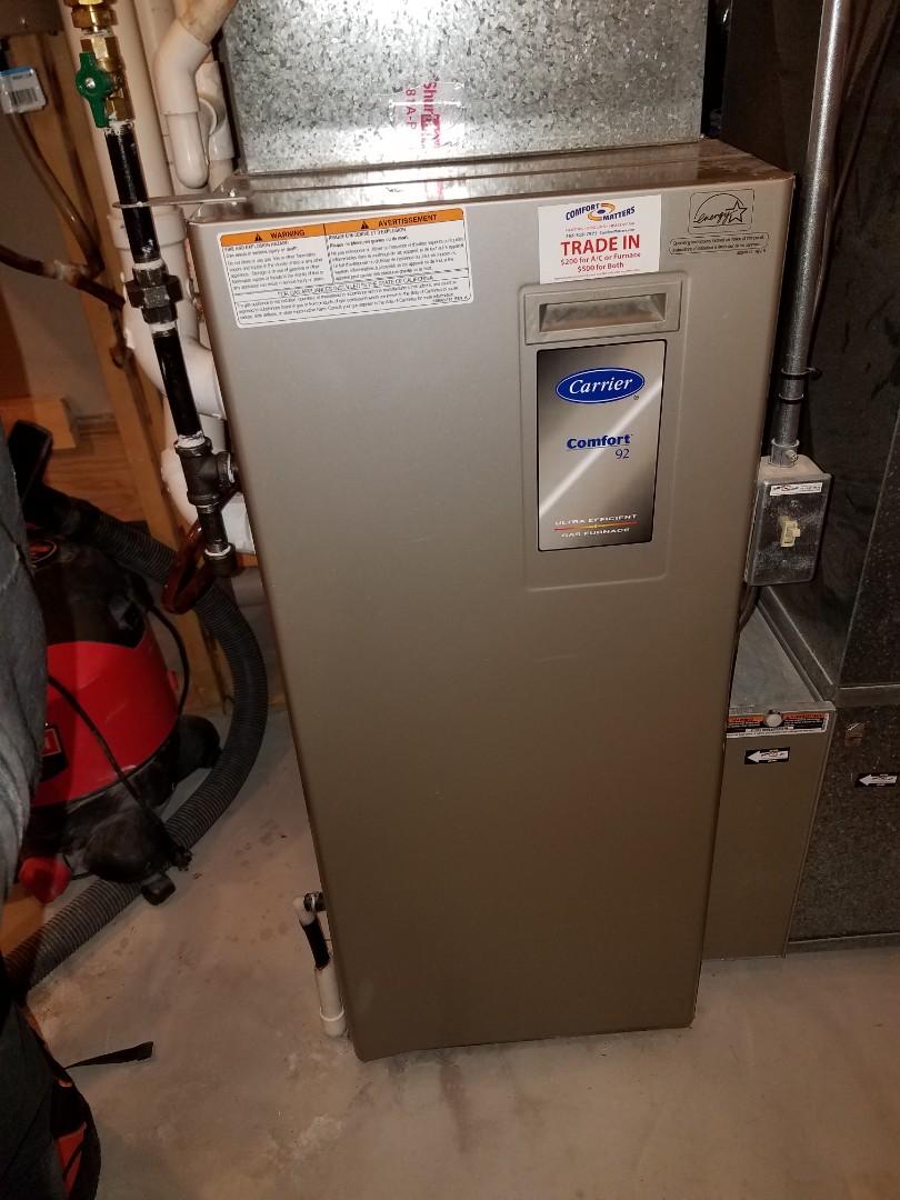 Hanover, MN - Furnace service on carrier furnace