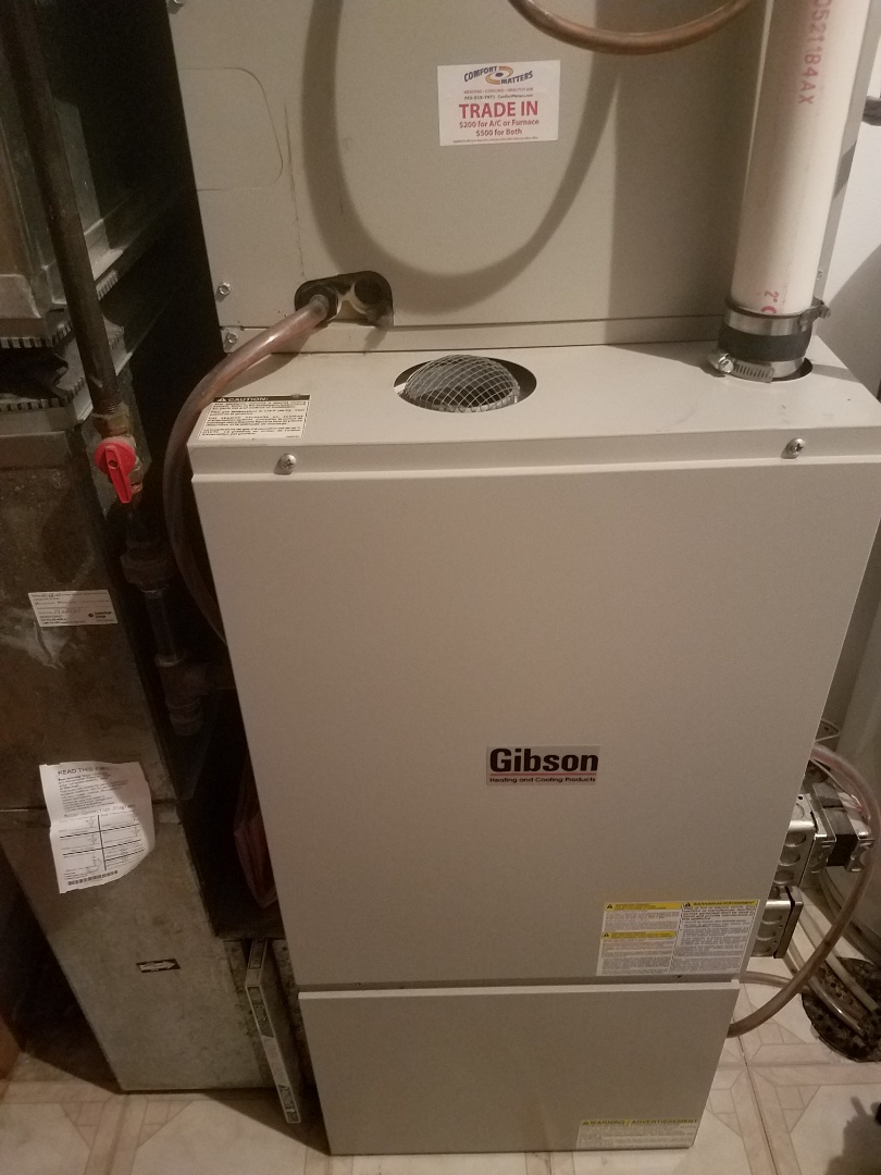 Rockford, MN - Heating maintenance. Performed tune up and cleaning on a Gibson furnace