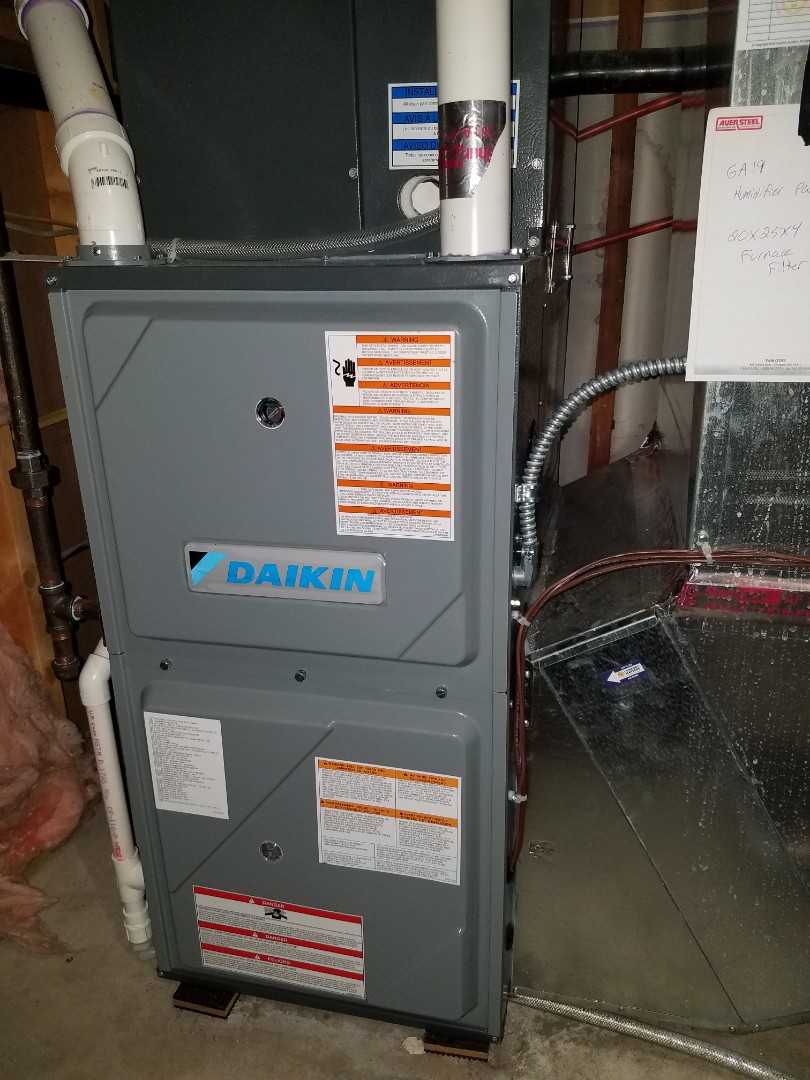 Saint Michael, MN - No heat on daikin furnace in St. Michael. Found plugged up furnace filter causing system to over heat
